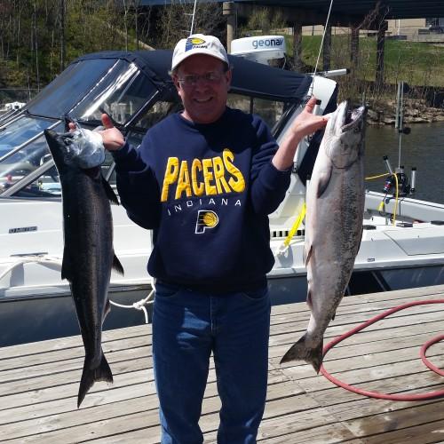 Michigan salmon fishing
